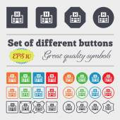 Hotkey  icon sign Big set of colorful, diverse, high-quality buttons. Vector — Stock Vector