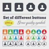 User, Person, Log in  icon sign Big set of colorful, diverse, high-quality buttons. Vector — Stock Vector