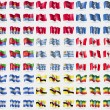 Постер, плакат: Kiribati Isle of man Marianna Islands Eritrea Uruguay Canada Nicaragua Brunei Ethiopia4 Big set of 81 flags Vector