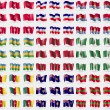 Постер, плакат: Isle of man Los Altos Kiribati Karakalpakstan Morocco Norfolk Islands Cameroon Turks and Caicos Transnistria Big set of 81 flags Vector