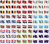 Belgium, East Timor, Bosnia and Herzegovina Federation, Aland, Syria, Sakha Repablic, Saba, Togo, Turks and Caicos. Big set of 81 flags. Vector — Stock Vector