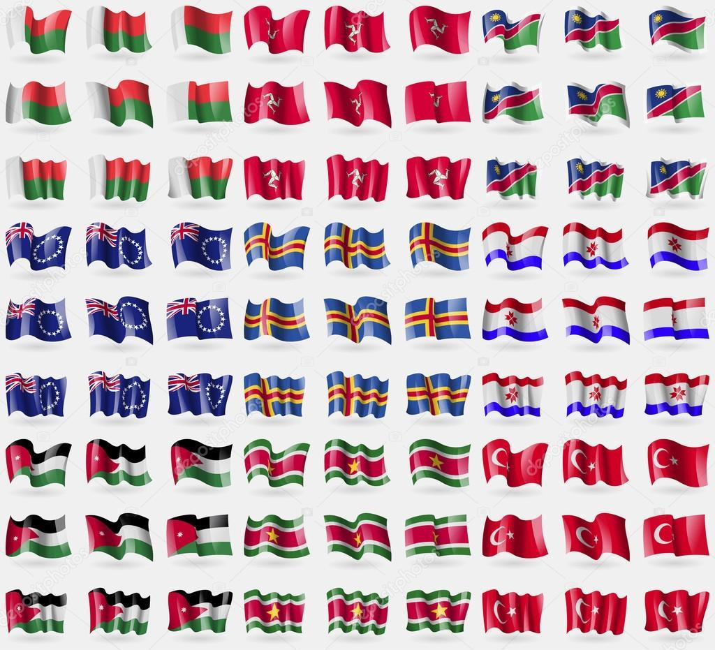 马达加斯加,马恩岛,纳米比亚,库克群岛,奥兰,莫尔多维亚,jordan