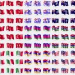 Постер, плакат: Tunisia Ajaria Montserrat Turkey Kuban Republic Gambia Italy Karabakh Republic Malaysia Big set of 81 flags Vector