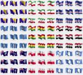 波斯尼亚和黑塞哥维那、 伊朗、 佛得角、 玛丽安娜群岛、 玻利维亚、 伊拉克、 蒙特塞拉特、 波兰、 南极洲。大组 81 标志。矢量 — 图库矢量图片