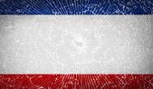Flags Crimea with broken glass texture. Vector — Stock Vector