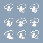 Media symbols flat icons — Διανυσματικό Αρχείο