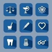 Medical flat icon set — Stock Vector