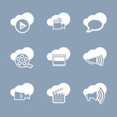 Media and video icon set — Stockvektor