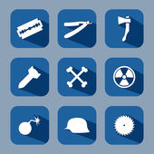 Danger icon set — Stock Vector