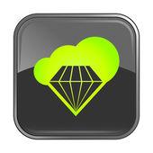 Gray jewelry icon — Stock Vector