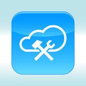 Blue web icon. — Stock Vector