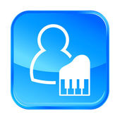 Ícone azul web — Vetor de Stock