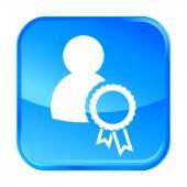 Blue web icon — Stockvector