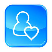 Blue web icon — Stock Vector