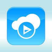 Blue web icon — Stockvektor