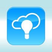 Blue web icon — Stock vektor