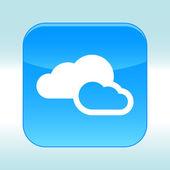 Blue web icon. — Stockvector