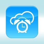 Icône bleue web — Vecteur