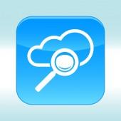 Blue web icon. — Stock vektor