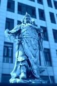 Guanyu bronz heykel — Stok fotoğraf