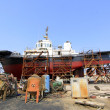 Ship was under repair in the dock — Stock Photo #59580287