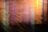 Surface light reflection at night — Stock Photo