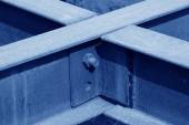 Steel plate member oxidation rust — Stock Photo