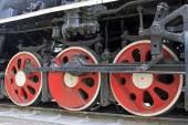 Rodas de locomotivas a vapor — Fotografia Stock