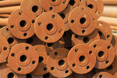 Oxidation rusty pipe — Stock Photo