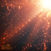Explosion of glowing particles — Stok Vektör