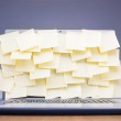 Post-its attached to laptop — Stock Photo #60163307