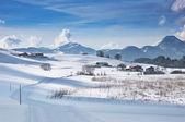 Skitrack in powder snow — Stock Photo