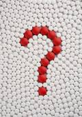 Pills forming a question mark — Stock Photo