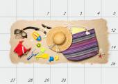 Summer holiday planning — Stock Photo