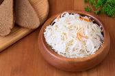 Sauerkraut - fermented cabbage — Stock Photo
