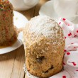 Traditional Easter bread - kulich with raisins and poppy seeds — Stock Photo #68467905