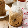 Traditional Easter bread - kulich with raisins and poppy seeds — Stock Photo #68467923