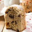 Traditional Easter bread - kulich with raisins and poppy seeds — Stock Photo #68468009