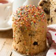 Traditional Easter bread - kulich with raisins and poppy seeds — Stock Photo #68468021