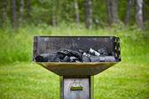 Carbone di legna grill — Foto Stock
