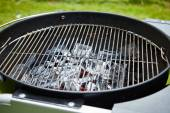 Charcoal in grill — Stock Photo