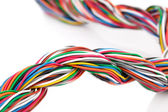 Muti-color electronic wire — Stock Photo