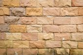 Background texture of laterite stone wall. — Stock Photo