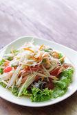 Somtum, papaya salad delicious food in thailand — Stock Photo