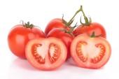 Tomato isolated on white background — Stock Photo