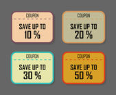 Set of discount coupons in vintage style — Stock Vector