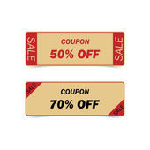 Discount coupons. Vintage Style — Stock Vector