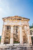 The Athenian Treasury at Delphi, Greece — Stok fotoğraf