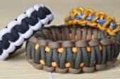 Three different color paracord — Stock Photo