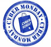 Cyber monday stamp — Stock Photo